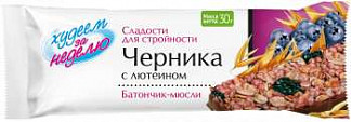 Леовит биослимика батончик-мюсли черника/лютеин 30г