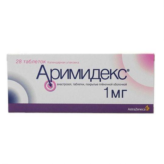 Аримидекс 1мг 28 шт. таблетки покрытые пленочной оболочкой, фото №1