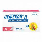 Цефекон д 100мг 10 шт. суппозитории для детей