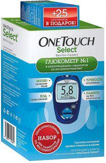 Ван тач селект глюкометр + 25 тест-полосок