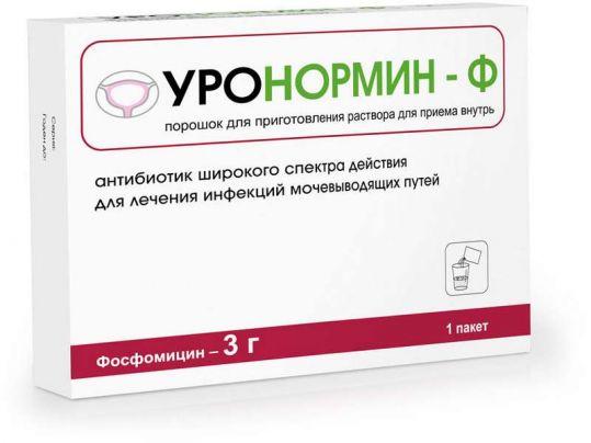 Уронормин-ф 3г 1 шт. порошок для приготовления раствора для приема внутрь, фото №1