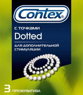 Контекс презервативы доттед n3