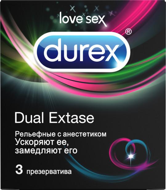 Дюрекс презервативы дуал экстаз 3 шт., фото №1