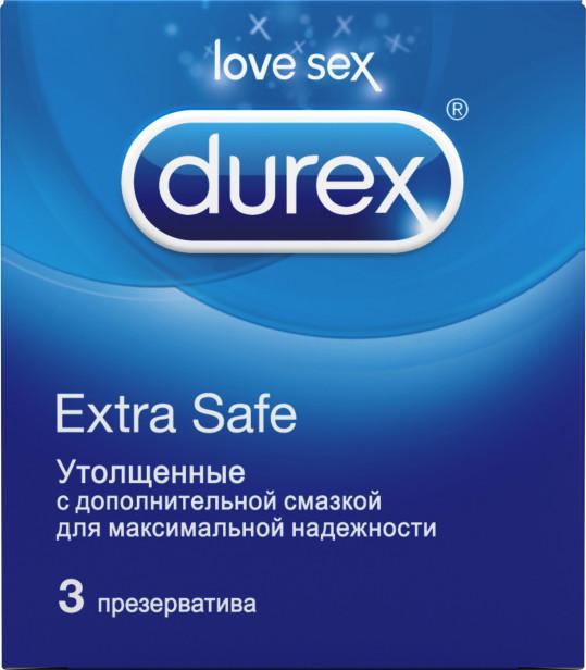 Дюрекс презервативы экстра сэйф 3 шт., фото №1