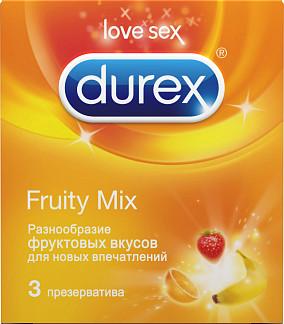 Дюрекс презервативы селект (фрути микс) 3 шт.