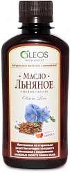 Олеос масло пищевое льняное (бад) 200мл