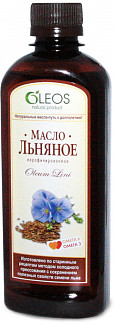 Олеос масло пищевое льняное (бад) 350мл