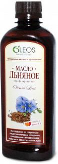 Олеос масло пищевое льняное (бад) 450мл