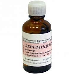 Левомицетин 1% 25мл раствор спиртовой