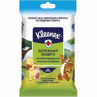 Клинекс бережная защита дисней салфетки влажные антибактериальные 10 шт.