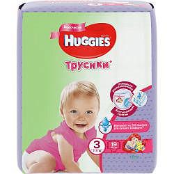 Хаггис трусики-подгузники для девочек 3 (7-11кг) 19 шт.
