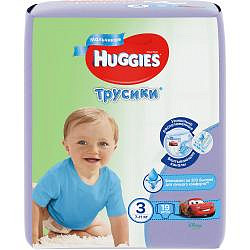 Хаггис трусики-подгузники для мальчиков 3 (7-11кг) 19 шт.