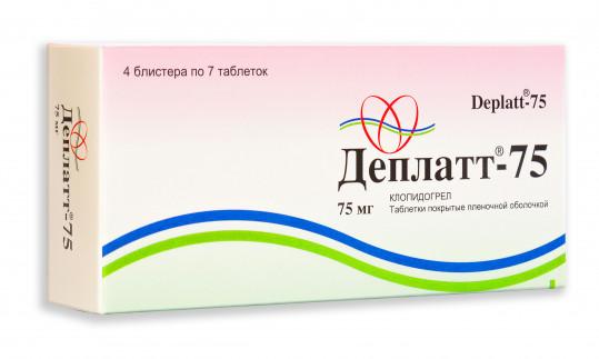Деплатт-75 75мг 28 шт. таблетки покрытые оболочкой, фото №1