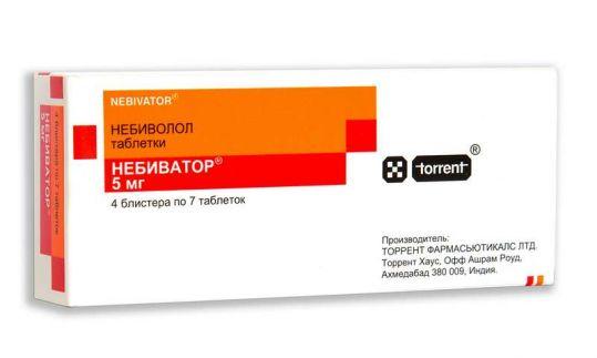 Небиватор 5мг 28 шт. таблетки, фото №1