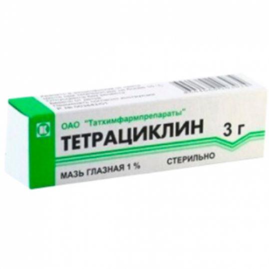 Тетрациклин 1% 3г мазь глазная татхимфарм, фото №1