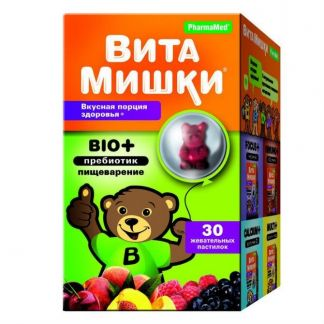Кидс формула витамишки био+ пастилки жевательные n30