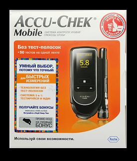 Акку-чек мобайл глюкометр набор