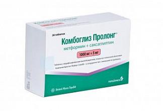 Комбоглиз пролонг 1000мг+5мг 28 шт. таблетки модифицированного высвобождения покрытые пленочной оболочкой