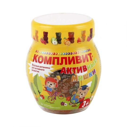 Компливит активные мишки пастилки жевательные 4,5г 30 шт., фото №1