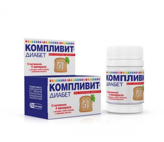 Компливит диабет таблетки 30 шт., фото №1