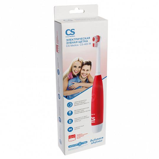Сиэс медика зубная щетка электрическая звуковая cs-465-w красная, фото №2