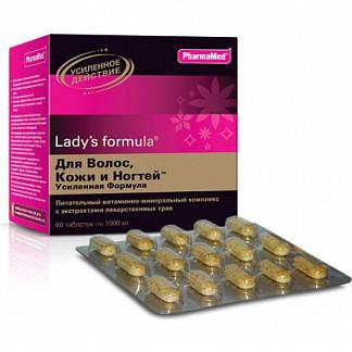 Леди'с формула для волос, кожи и ногтей усиленная формула таблетки 60 шт.