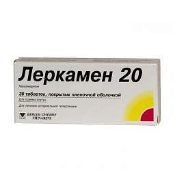 Леркамен 20мг 28 шт. таблетки покрытые пленочной оболочкой