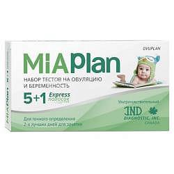 Миаплан тест на овуляцию 5 шт. + тест на беременность 1 шт.