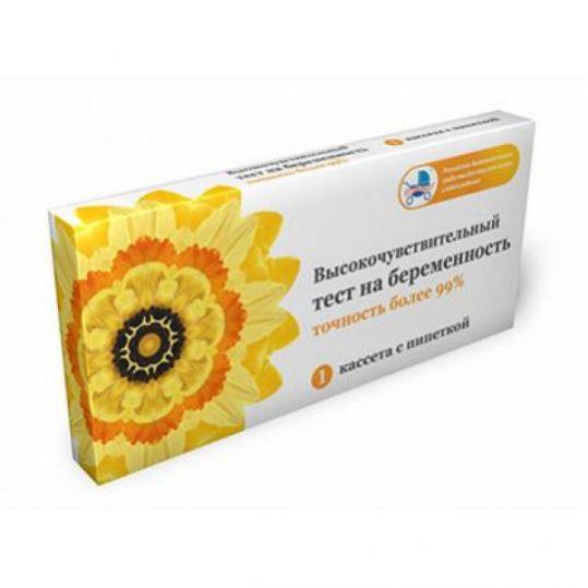Тест для определения беременности высокочувствительный кассета+пипетка, фото №1