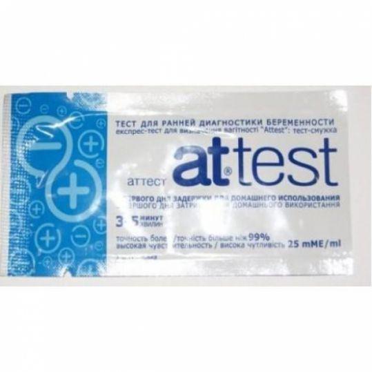 Аттест экспресс тест для определения беременности 1 шт. shanghai chemtron biotech co ltd, фото №1