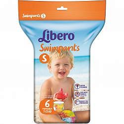Либеро свимпентс трусики-подгузники для плавания 7-12кг 6 шт.