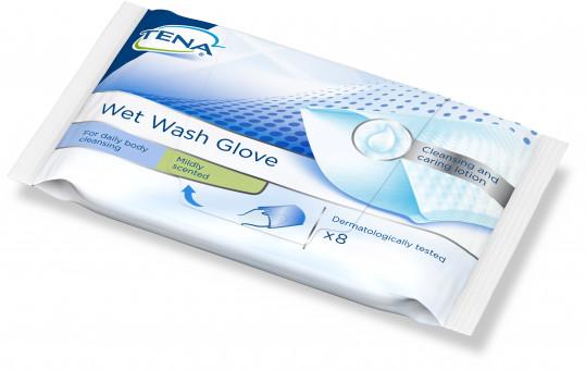 Тена рукавички влажные для мытья 8 шт., фото №1