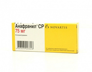 Анафранил ср 75мг 10 шт. таблетки пролонгированного действия, покрытые пленочной оболочкой