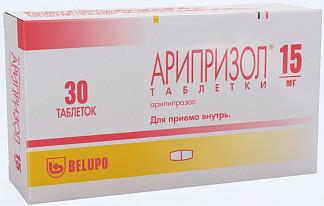 Арипризол 15мг 30 шт. таблетки
