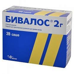 Бивалос 2г 28 шт. порошок для приготовления суспензии les laboratoires servier industrie