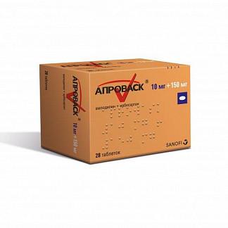 Апроваск 10мг+150мг 28 шт. таблетки покрытые пленочной оболочкой