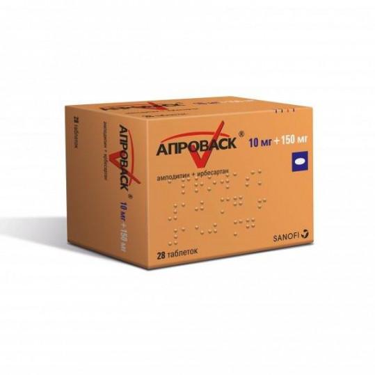 Апроваск 10мг+150мг 28 шт. таблетки покрытые пленочной оболочкой, фото №1