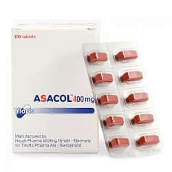 Асакол 400мг 100 шт. таблетки покрытые кишечнорастворимой оболочкой