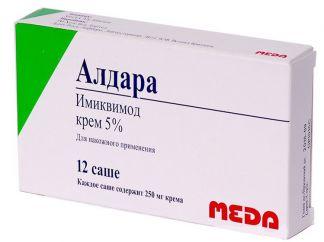 Алдара 5% 250мг №12 крем д/наружного применения