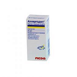 Аллергодил 0,05% 6мл капли глазные