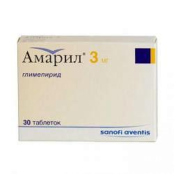 Амарил 3мг 30 шт. таблетки