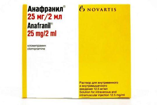 Анафранил 12,5мг/мл 2мл 10 шт. раствор для внутривенного и внутримышечного введения, фото №1
