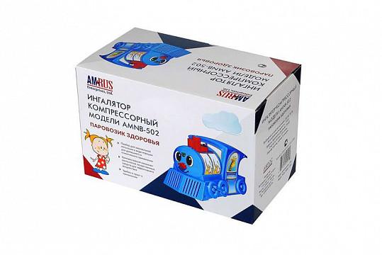 Амрус ингалятор компрессорный amnb-502 для детей паровозик здоровья, фото №2