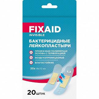 Фиксэйд инвизибл лейкопластырь бактерицидный влагоустойчивый полимерный прозрачный 72х19мм n20