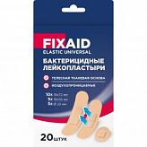 Фиксэйд эластик универсал лейкопластырь бактерицидный тканевый телесный набор 20 шт.