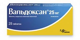 Вальдоксан 25мг 28 шт. таблетки покрытые пленочной оболочкой