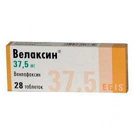 Велаксин 37,5мг 28 шт. таблетки