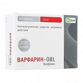 Варфарин-obl 2,5мг n100 таб.
