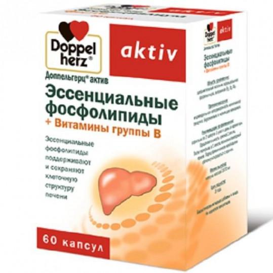 Доппельгерц актив эссенц.фосфолипиды+вит.в капсулы 60 шт., фото №1