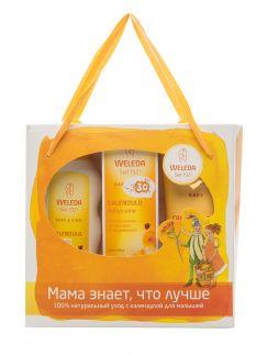Веледа беби календула набор шампунь-гель 200мл+масло б/запаха+крем д/области пеленания